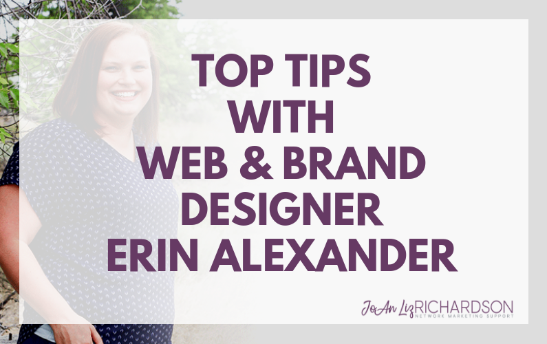 Top Tips With Web & Brand Designer Erin Alexander
